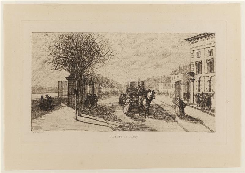 Barrière de Passy par Trimolet, 1830-1840