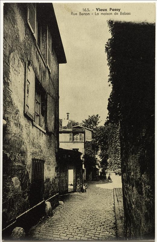 La maison de Balzac dans le Vieux Passy, rue Berton