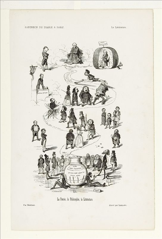 Panthéon du Diable à Paris : La Littérature par Bertall
