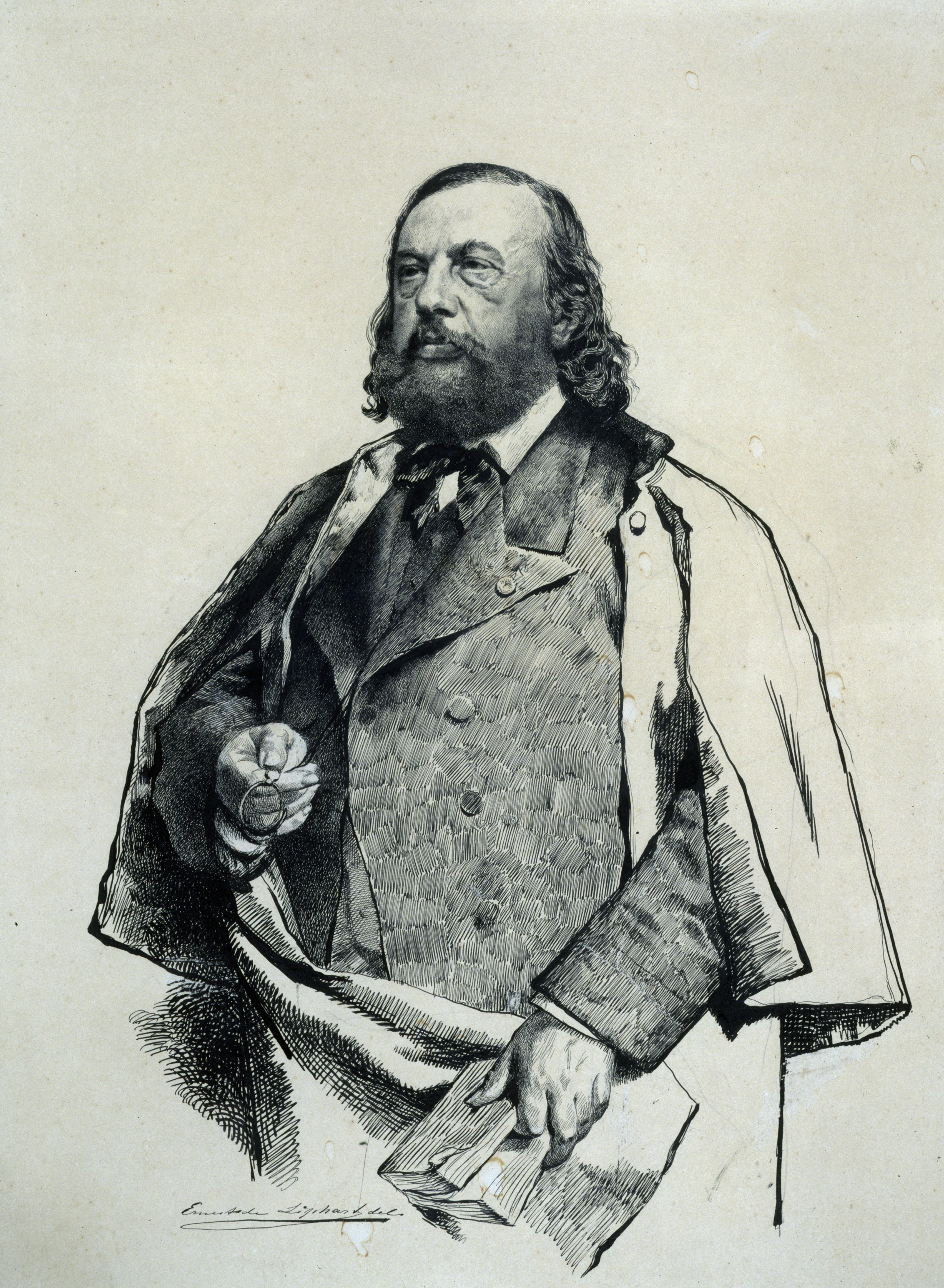 Théophile Gautier par Ernest Liphart