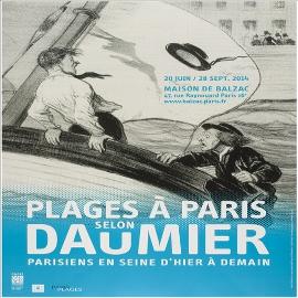 Affiche Plages à Paris selon Daumier