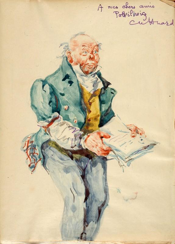 Charles Huard, aquarelle pour