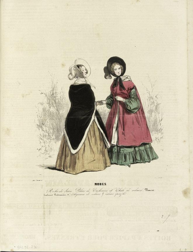 Gavarni, planche parue dans La Mode, 1830