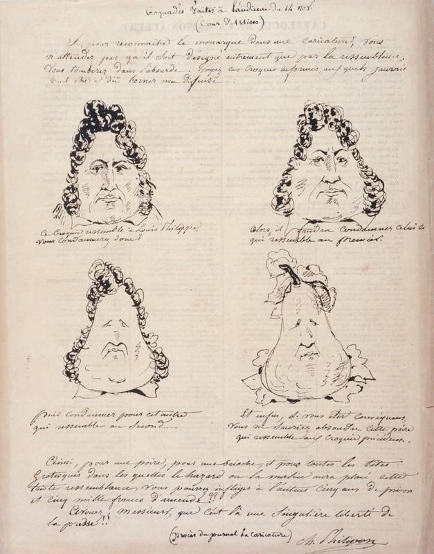 Charles Philipon, Croquades faites à l'audience du 14 novembre 1831 (Louis-Philippe en poire)