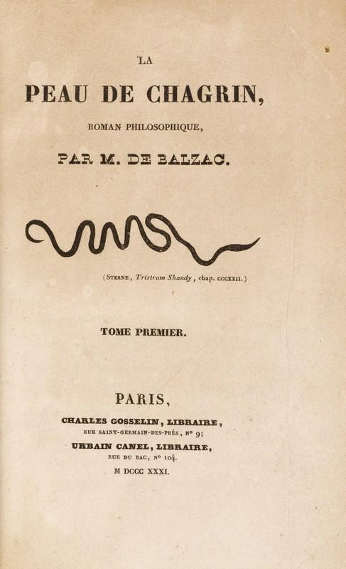 Line serpentine sur la page de titre