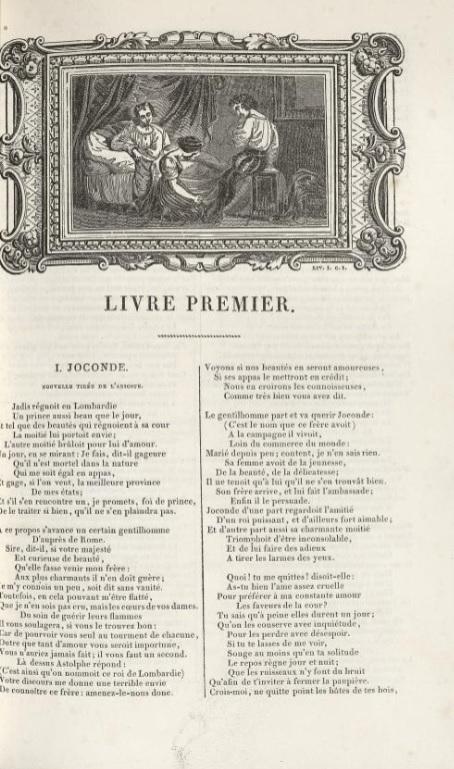page de titre de Joconde de La Fontaine