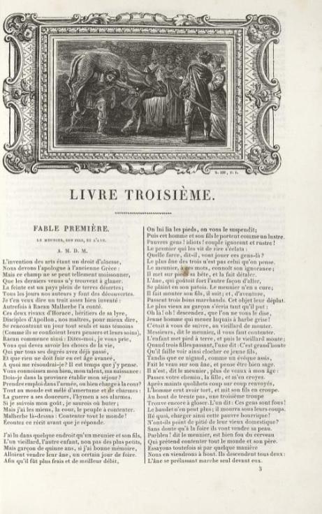 page de titre du Meunier de La Fontaine