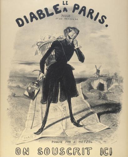 Affiche pour Le Diable à Paris par Gavarni