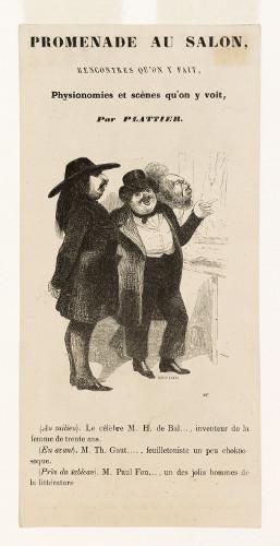 Balzac et Gautier au Salon