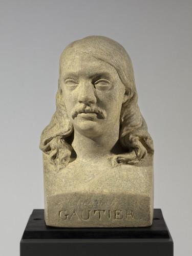 Buste de Gautier par Dantan de face
