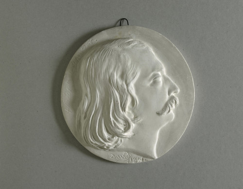 Médaillon représentant Théophile Gautier