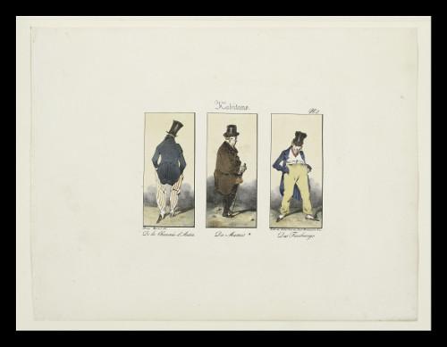 Habitants de la Chaussée d'Antin, du Marais, des Faubourgs par Monnier
