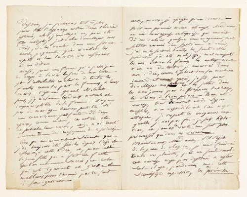 Lettre à la duchesse de Castries, 5 octobre 1831, page 1