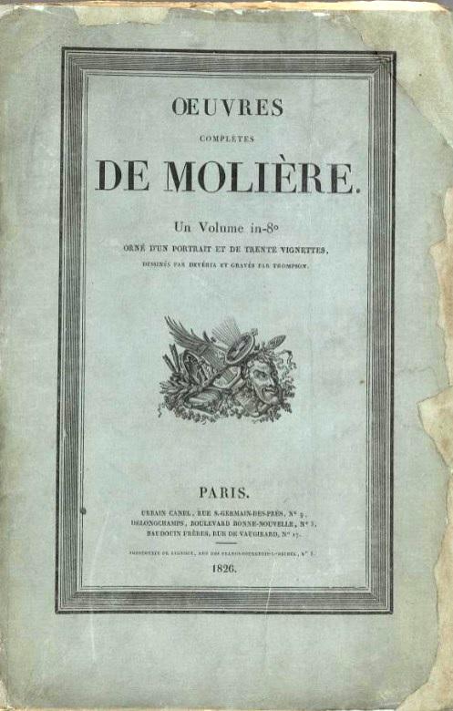page de titre des Oeuvres de Molière