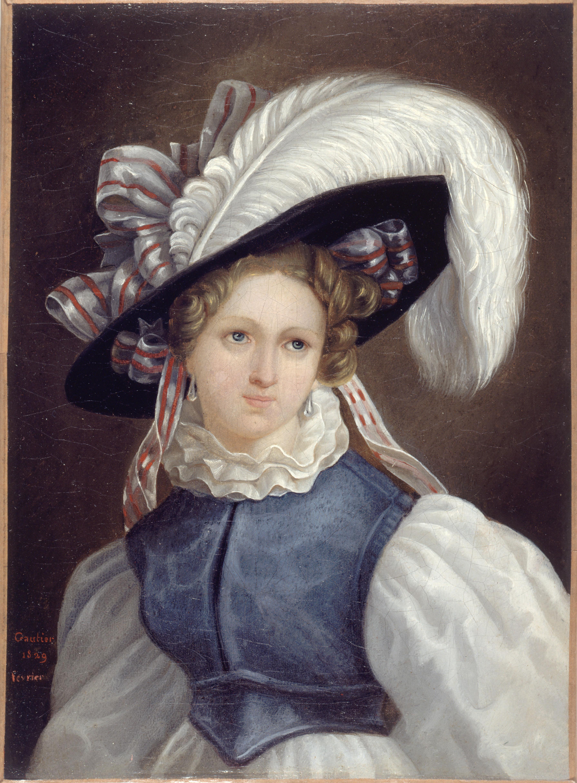 Portrait de femme par Théophile Gautier, 1829