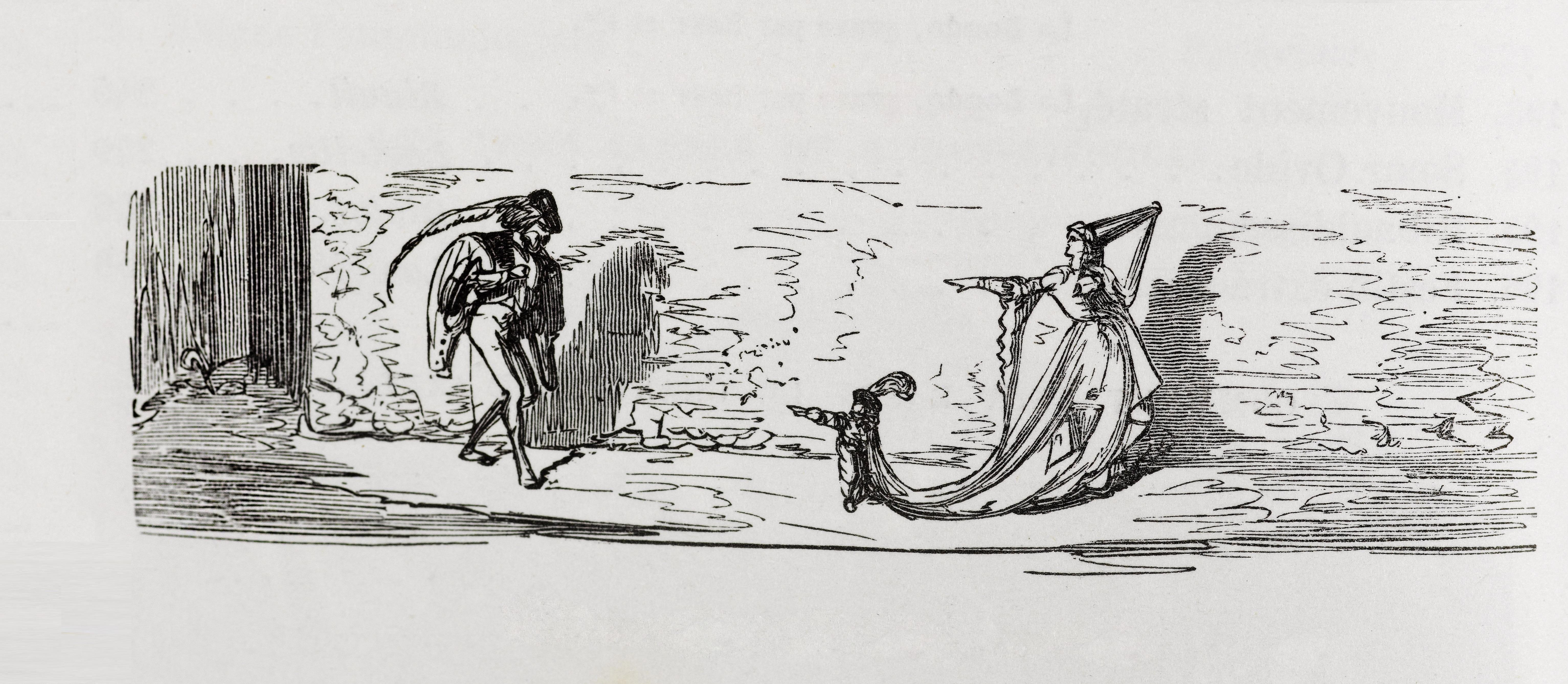 G. Doré, La Feme imprenable, illustration pour Les Contes drolatiques, Paris, 1855