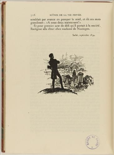 Charles Huard et Pierre Gusman, Rastignac au Père Lachaise