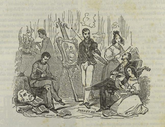 T. Johannot, vignette de titre de l'Artiste