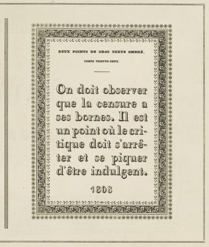 Page de caractères d'imprimerie